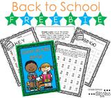 Free Downloads Back to School Subtraction Bingo
