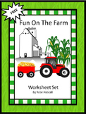 Farm Worksheet Set-Free