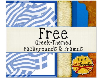 Free Greek-Themed Backgrounds & Frames