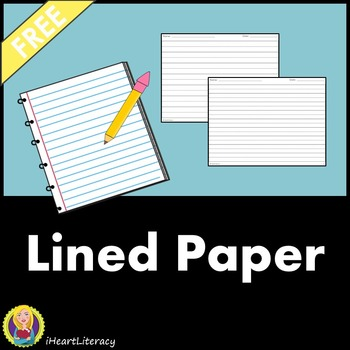 Free Lined Writing Paper for Students