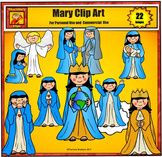 Mary Clip art by Charlotte's Clips - Christian Clip Art