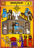 Nativity Clip Art for Christmas by Charlotte's Clips from