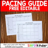 Free Pacing Guide {Simply Kinder}