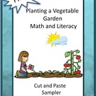 Free Planting a Vegetable Garden Math and Literacy Cut and