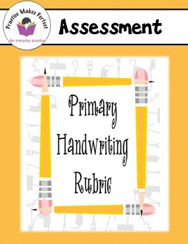 Free Primary Handwriting Rubric