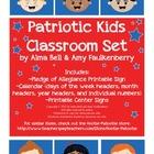 Free Printable Patriotic Kids Pocket Chart Calendar and Pl