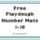 Free Printable Playdough Number Mats 1-10