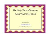 Free Printable: Solve Classroom Discipline with Three Clas