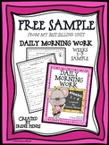 Free Sample From Daily Morning Work Weeks 1-5 ~ Language A