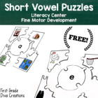 Free Sample Vowel Sleuth {Printable Literacy Centers for V