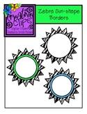 {Free} Zebra Fever Borders {Creative Clips Digital Clipart}