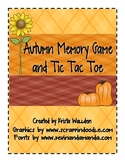 {Freebie} Autumn Memory Game and Tic Tac Toe