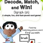 FREE - Decode, Match, and Win Card Game - SH Digraph