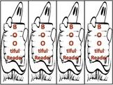 "Free! Halloween Bookmarks ""BOO-tiful Reader"""