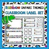 {Freebie} Rainbow Safari Themed Classroom Label Set