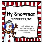 Freebie: Snowman Writing Activity (English)