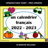 French Calendar - Calendrier 2015-2016