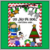 French Christmas Matching Game – un jeu des paires