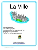 French City Buildings Activities:  Vocab, Aller & Directions