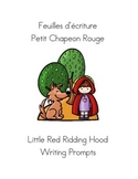French Fairy Tale Writing Prompts Little Red Riding Hood -