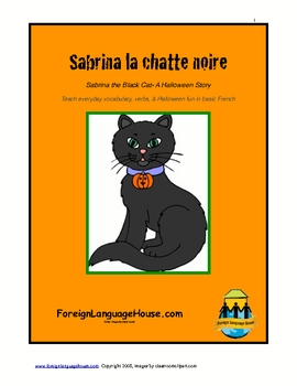 French Halloween Story Unit:  Sabrina the Black Cat