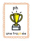 French Phonic Blends Wall Cards Grades 1, 2, 3