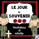 French Remembrance Day Activity Pack (Le jour du Souvenir)