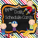 French Schedule Cards