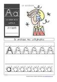 Cahier: Étude de la lettre A (Lecture, Écriture, Centres,