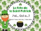 "French St. Patrick's Day ""J'ai Qui a ?"" Class Game (Le jou"