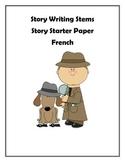 French Story Writing Sentence Stem Writing Paper