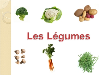 French Vegetable Powerpoint Activities