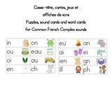 French  Word Wall Sound Cards and games  Cartes de sons communs
