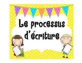 French writing process posters writer's workshop (immersion)