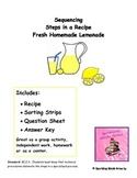 Fresh Homemade Lemonade-Sequencing