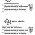 Friendly Letter Checklist