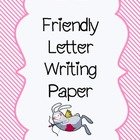 Friendly Letter Writing Paper-Valentine's Pack
