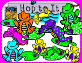 Frog Clip Art Hop to It by Kid-E-Clips Personal and Commer