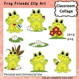 Frog Friends Clip Art - color - personal & commercial use