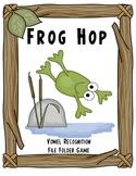 Frog Hop Vowel Recognition File Folder Game