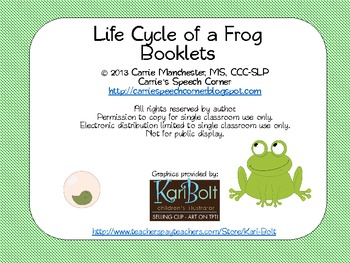 Frog Life Cycle booklets