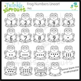 Frog Numbers Lineart