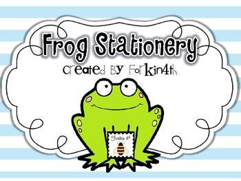 Frog Stationery