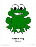 Frog Themed Behavior Clip Chart AND Take Home Chart