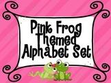 Frog Themed Pink Alphabet Set