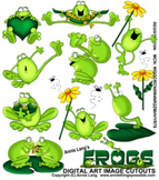 Frogs Character Clipart