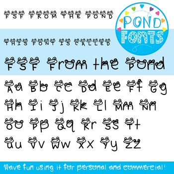 Font - From the Pond Font