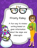 Equation Writing! Frosty Relay: A fun way to review writin