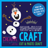 Frozen Snowman Craft