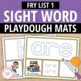 Fry List 1 Sight Word Play Dough Activity Mats:Build, Read